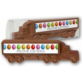 Schoko-LKW als spezielles Werbemittel aus Schokolade: Bringen Sie Ihre Werbung zu Ostern in Fahrt.
