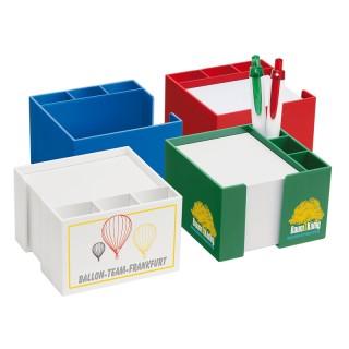 Zettelbox mit seitlichem Köcher (ab 100 Stück)