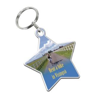 Schlüsselanhänger Stern (ab 100 Stück)