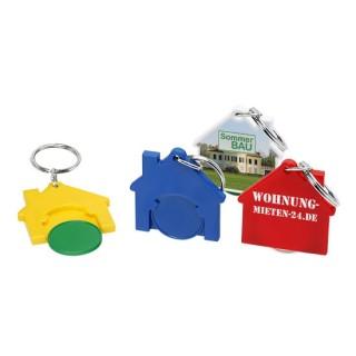 Chiphalter mit 1€-Chip Haus (ab 100 Stück)