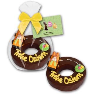 Baumkuchen Frohe Ostern als Werbegeschenk mit bedruckter Karte