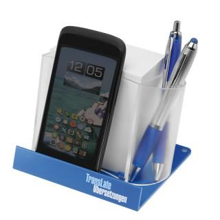 Smartphone-/Tabletständer mit Zettelspeicher (ab 100 Stück)