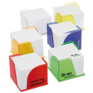 Zettelbox mit 2 Papierentnahmen (ab 100 Stück)