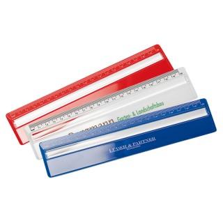 Lineal 20 cm mit Zeilen-Lupe (ab 100 Stück)