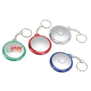 LED-Taschenlampe, rund als Schlüsselanhänger (ab 100 Stück)