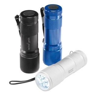 Aluminium Stabtaschenlampe, 9 LED, klein (ab 100 Stück)