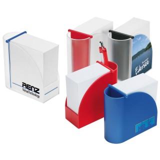Designer-Zettelbox mit integriertem Köcher (ab 100 Stück)