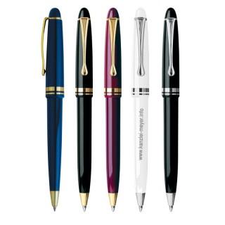 Kappendruck-Kugelschreiber gold/silber (ab 50 Stück)
