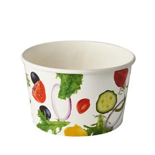 """Salatschalen To Go ohne Druck aus Pappe 600 ml Ø 12,5 cm · 7,5 cm """"Salad"""" (ab 600 Stück)"""