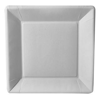 Pappteller ohne Druck quadratisch FSC®-zertifiziert (ab 1.000 Stück)