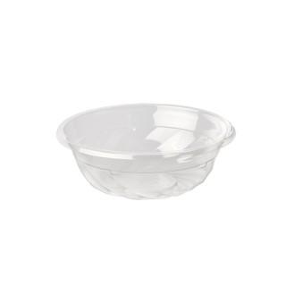 """Feinkostbecher & Salatschalen To Go ohne Druck, PLA """"pure"""" rund 350 ml Ø 13,3 cm · 4,5 cm transparent (ab 500 Stück)"""