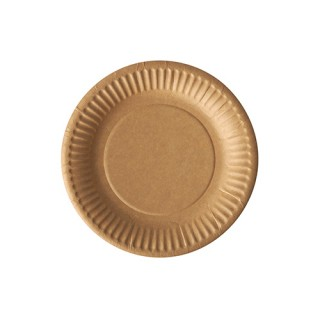 Pappteller ohne Druck rund Ø 15 cm braun FSC®-zertifiziert (ab 2.000 Stück)