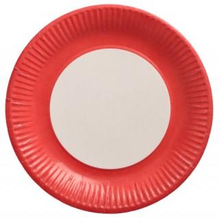 Pappteller ohne Druck Ø 23 cm rot, gelb oder blau FSC®-zertifiziert (ab 500 Stück)