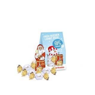 Lindt Santa & Vollmilchkugeln Businesspräsent Christmas Minis (ab 150 Stück)