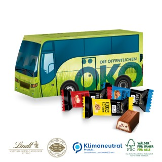 3D Präsent Bus mit Lindt Hello Mini(ab 150 Stück)