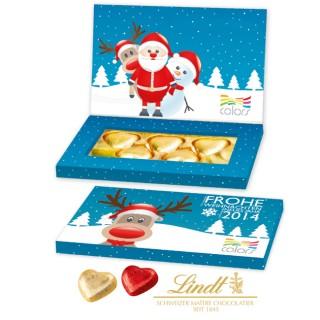 Lindt Schokoherzen in Präsentbox Business zu Weihnachten 30g (ab 250 Stück)