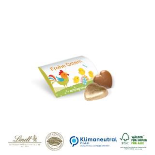 Lindt Schokoladenherz im Werbe-Briefchen 5g (ab 250 Stück)