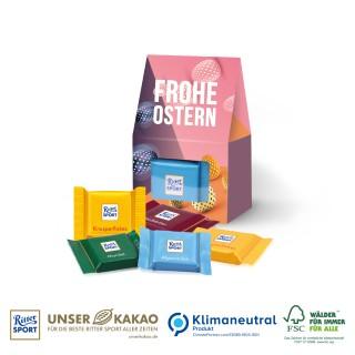 Ritter SPORT Businesspräsent Selection Mini zu Ostern bedrucken 25g (ab 150 Stück)