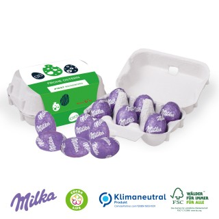 Schoko-Eier 6er-Set mit Milka Alpenmilch-Eier (ab 100 Stück)
