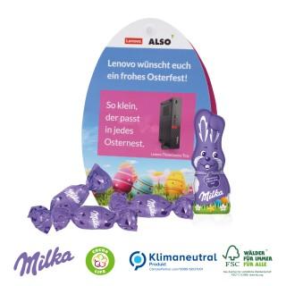 Werbe-Osterei mit Schokoladenmischung von Milka 40g (ab 100 Stück)