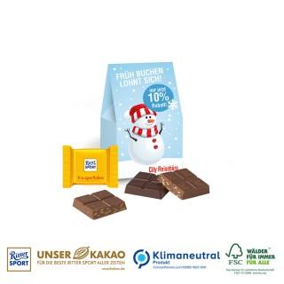 Ritter SPORT bedrucken in Mini Christmas Schokoladengeschenkverpackung