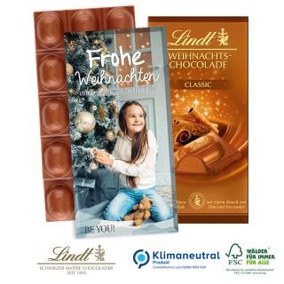 Lindt Weihnachtsschokolade bedrucken