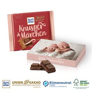Ritter SPORT Winterkreation Schokoladentafel in Werbekartonage bedrucken