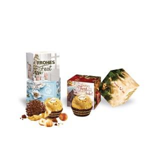 Ferrero Rocher in Präsentverpackung Werbewürfel bedrucken 12g (ab 500 Stück)