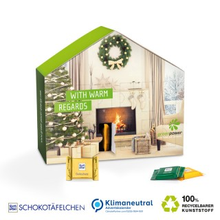 Adventskalender Haus bedrucken