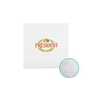Flexodruckservietten mit President Aufdruck als Cocktailserviette