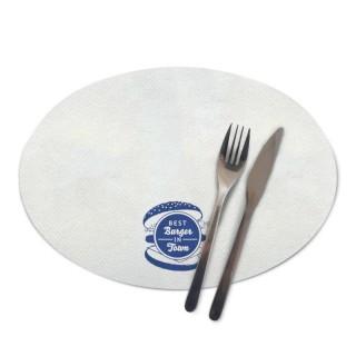 Ovale Tischsets im Flexodruck bedrucken für Gastronomie und Events