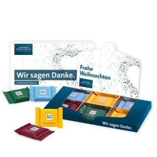 Ritter SPORT Schokotäfelchen in Präsentbox (ab 100 Stück)