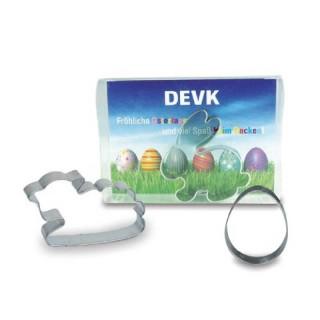 Backförmchen Ostern mit Karte zum versenden oder verschenken bedrucken Werbeartikel