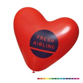Herzballons in Kleinauflage mit Logo bedrucken