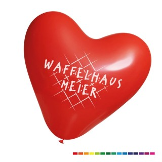 Werbeluftballons in Herzform mit Logo bedrucken