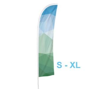 Nachdruck als Ersatzfahne für Beachflag S, M, L oder XL halbrund mit Spitze