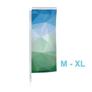 Nachdruck als Ersatzfahne für Beachflag M, L oder XL rechteckig als Square-Flag