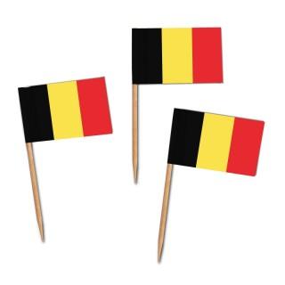Käsepicker, Partypicker, Spieße, Party, Partydeko, Dekoration, Dekorationen, Kanapee, Canapé, Fahne, Flagge, Kostprobenpicker, Miniflagge, Miniflaggen, Minifahne, Minifahnen, Holzpicker Belgien Fahne, Picker Belgienflagge