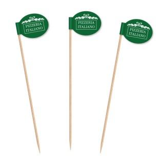 Partypicks in ovalrunder Form als Gastro-Artikel bedrucken
