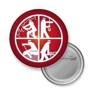 56 mm Buttons mit Sicherheitsnadel als Anstecker oder Pins bedrucken