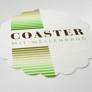 Tassenuntersetzer Ø90mm Digitaldruck rund Wellenrand (ab 200 Stück)