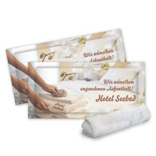 Premium hochwertige Erfrischungstücher der Marke Coolike als Original Baumwoll Feuchttücher bedrucken