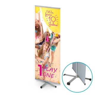 Cross Banner bedrucken: Werbeplakat mit Kreuzfuß
