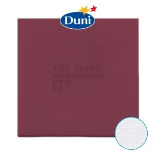Dunilin Servietten als Duni Airlaid Dinnerservietten bedrucken mit Blindprägung