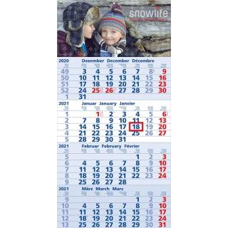 Wandkalender Mega 4 A mit blauem Kalendarium
