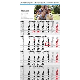 Express Wandkalender Mega 4 A mit grauem Kalendarium