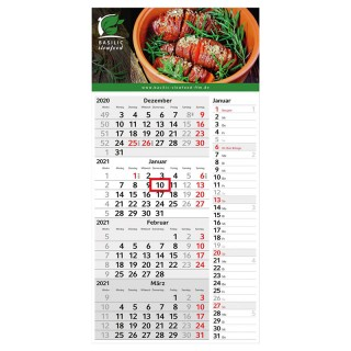 Wandkalender Konzept 4-Monatskalender bedrucken als Werbeartikel