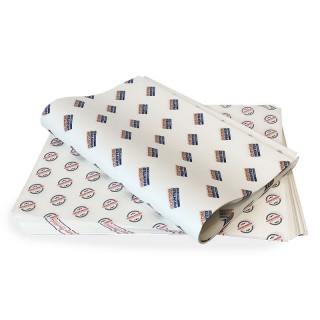 Fettdichtes Einschlagpapier individuell bedruckt groß 500x335 mm (ab 1.000 Stück)