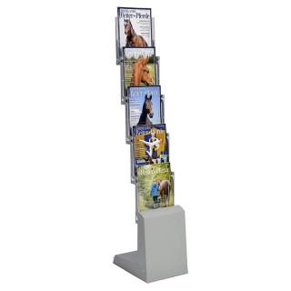 Schicker faltbarer Prospektständer mit 5 Boxen für A4 Broschüren