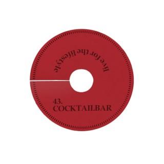 Farbige runde Pilsdeckchen im Prägedruck bedrucken mit eigenem Motiv oder Logo als Werbeartikel
